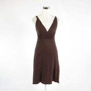 Brown cotton VELVET by Graham & Spencer dress 00P